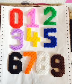 Numbers from Hama beads