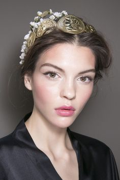 Dolce & Gabbana Spring 2014 - Backstage Great make up, especially the lip stick color.