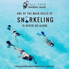 One of the Main rules of snorkeling is- Never Go Alone  #snorkeling #watersports