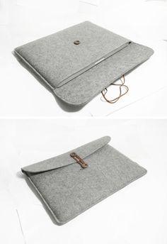 Wolle-Macbook pro 15 Retina Macbook Sleeve Wolle Filz von TopHome