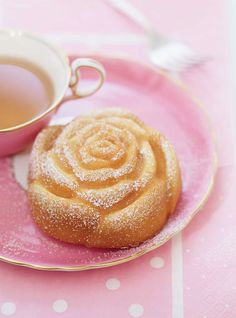 Lavender Rose Cakes. Almond pound cake (Pain de Gênes) shaped like roses and topped with dried lavender. Beautiful!   Perfect for a tea party; ladies' luncheon; wedding, bridal, or baby shower; Spring social; girl's birthday party; or other special occasion.   www.royalteahats.com