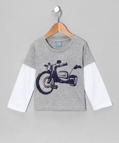 This tee has the kind of layered comfort that was built for busy boys. Its retro screen print adds a pop of play, creating the kind of style that bridges the gap between rugged and hugely huggable.