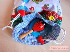 Alicia in Dot's Land bag handmade by Pili B♥ | Bolsa de saco Alicia en el país de los Lunares hecho a mano por Pili B♥