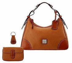 Dooney & Bourke Leather Harrison Hobo w/ Accessories — QVC.com/ I need this bag.