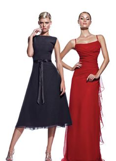 the bridesmaid dress on the left can easily be accomadated with a long sleeve shirt to make it more modest