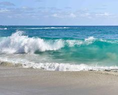 Beach Discover Ocean Photography - Pacific Ocean Sea Waves Blue Turquoise Coastal Nautical Wall Art Home Decor Print No Wave, Waves Photography, Landscape Photography, Nature Photography, Portrait Photography, Wedding Photography, Seascape Paintings, Landscape Paintings, Sea And Ocean