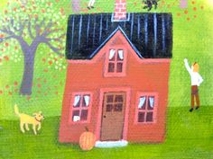 """from """"In the Orchard""""  3""""x 5"""""""