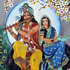 Religious Paintings, Krishna Painting, Krishna Radha, Indian Artist, Top Artists, Online Painting, Middle Ages, Fine Art Photography, Musical Instruments