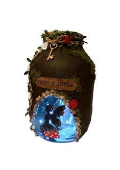 Hand crafted #Fairy Lodge #Lantern, candle holder, light jar, night light, wedding centrepiece, MADE TO ORDER. by melOnDesign on Etsy