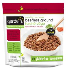The Beefless Ground | Gluten Free Foods | Gardein Doesn't smell like beef, sort of looks like beef, tastes like nothing I've ever had. NOT a good choice.