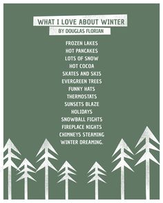 What I Love About Winter by Douglas Florian