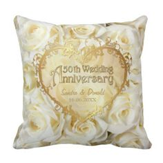 White Rose Elegance - Wedding Anniversary Throw Pillow - click/tap to personalize and buy Throw Cushions, Designer Throw Pillows, Decorative Throw Pillows, Soft Pillows, Decorative Items, Floral Wedding, Wedding Colors, Wedding Pillows, 50th Wedding Anniversary