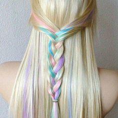 Barbie Would Approve // Rainbow Hair Braid Ideas