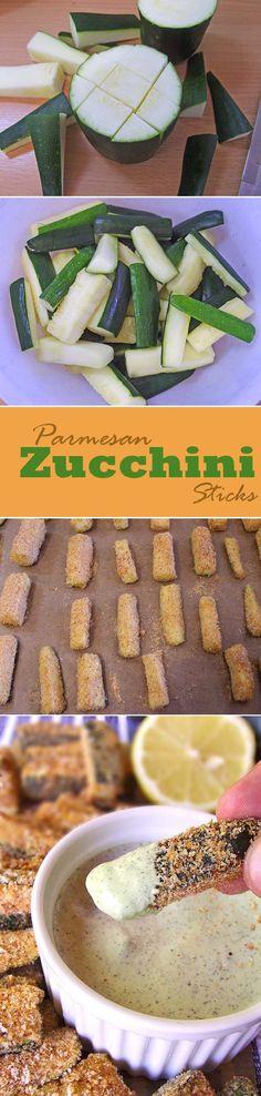 Baked Parmesan Zucchini Sticks | www.sugarapron.com | #recipes #zucchini #parmesan
