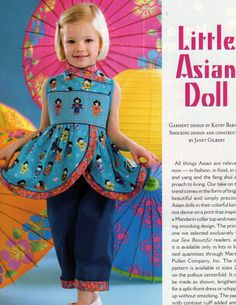 #112 May/Jun 07 - Little Asian Doll, Kimono-wrap style Tunic or Dress, 2-6