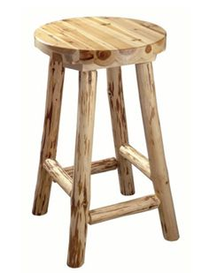 rustic aspen log bar stool 24 inch tan wood log bar stools