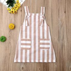 Pudcoco Summer Toddler Baby Girl Clothes Sleeveless Striped Strap Dress Casual P. - My Pins - Pudcoco Summer Toddler Baby Girl Clothes Sleeveless Striped Strap Dress Casual Pockets Summer Sundr - Baby Frocks Designs, Kids Frocks Design, Frocks For Girls, Little Girl Dresses, Dress Girl, Cute Baby Dresses, Baby Girl Frocks, Baby Girl Fashion, Kids Fashion