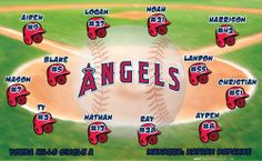Angels digitally printed vinyl baseball and little league sports team banner. Made in the USA and shipped fast by Banners USA. http://www.bannersusa.com/art/templates_2/digital/banners/vinyl-baseball-team-banners.php