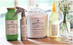 homemade cleaning supplies - also love the labels...