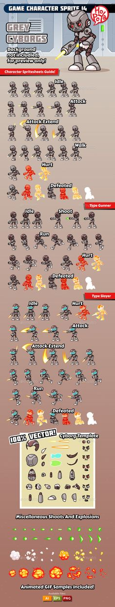 Game Character Sprite 14 - Sprites Game Assets