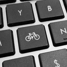 Bike icon on your keyboard. Great way to easily access your bike on your computer. Cycling Quotes, Cycling Art, Road Cycling, Cycling Bikes, Indoor Cycling, Bicycle Wheel, Bicycle Art, Bicycle Sketch, Bike Mtb