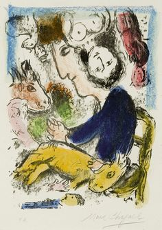 Marc Chagall, artist with goat  on ArtStack #marc-chagall #art