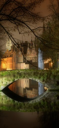 June 19: Bruges, Belgium. Because I don't like horror flicks but this setting looks kinda cool.