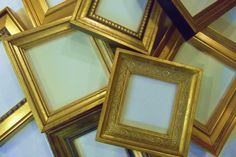 Lot of 6 Small Gold Picture Frames TO HANG by LittleLotusBoutique2, $52.00