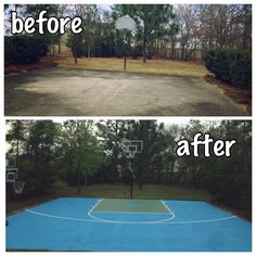 Half Basketball court, can add on concrete and paint in ...