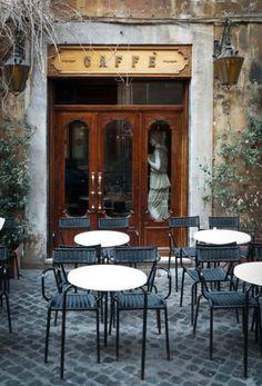 *a cafe Caffe Della Pace, Rome Cafe Bar, Cafe Bistro, Cafe Shop, Cafe Restaurant, Restaurant Layout, Western Restaurant, Luxury Restaurant, Café Exterior, La Trattoria