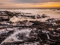 oregon coast waves at sunset by markbowenfineart Sunset Landscape, Landscape Photos, Landscape Photography, Travel Photography, Thors Well, Oregon Coast, Photos Of The Week, No Time For Me, Waves
