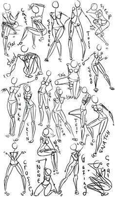 Female Power Poses -Anatomy 2 by =Oriors on deviantART