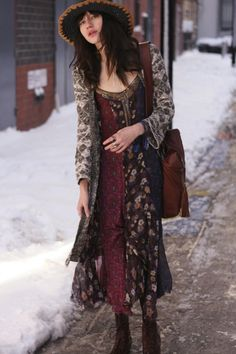 Midnight Stars Pieced Print Dress style pic on Free People