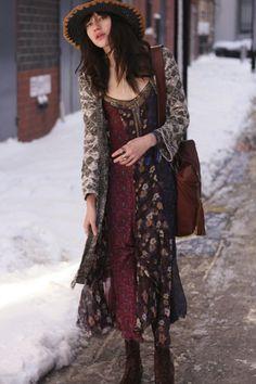 Midnight Stars Pieced Print Dress style pic on Free People