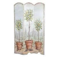 Found it at Wayfair - Tuscan Topiary Oversized 3 Panel Decorative Room Screen Decorative Room Dividers, Folding Room Dividers, Decorative Screens, Room Divider Screen, Room Screen, Hide Water Heater, Dressing Screen, Interior Windows, French Country Decorating