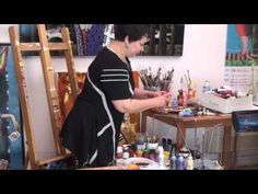 Stephen Turnor - The Art Tutor - Liquid Acrylic Film Technique - YouTube