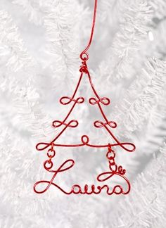 DIY - personalized wire wrapped ornament