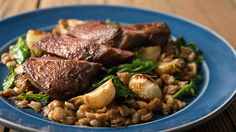 Duck Breast with Turnips and Rye Spaetzle by Hank Shaw