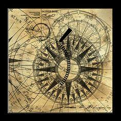 Abstract Steampunk Compass - http://james-christopher-hill.artistwebsites.com/art/all/steampunk+blueprints/all