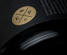 Wine label with gold foil print finish designed by Inhouse for Expatrius Estate.
