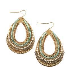 Panacea Multi-Bead & Pearl Teardrop Earrings (CUSP Most Loved!) ❤ liked on Polyvore