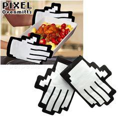 Se quiser retirar um delicioso jantar com luvas térmicas nada comuns do forno, a Pixel Oven Mitts é exatamente o que você procura. Cada par, feito de algodão, custa cerca de US$ 17 doláres.