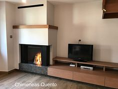 Chimenea Quento modelo Aya con Stuv microMega. Home, Fireplace, Decor, Flat Screen