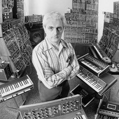 Love this one of Bob Moog. It's been converted to mural art near the factory in Asheville.