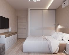 37 Small Bedroom Designs and Ideas for Maximizing Your Small Space That Pop - The Trending House Bedroom Closet Design, Home Room Design, Modern Bedroom Design, Small Room Bedroom, Home Decor Bedroom, Master Bedroom, Bed Room, Kids Bedroom, Bedroom Ideas