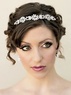 Bridal Headbands and Tiaras by Hair Comes the Bride - Hair Comes the Bride Bridal Hair Accessories & Headpieces, Wedding Jewelry, Hair & Makeup
