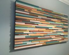 Wood Wall Art- Reclaimed Wood Art - Painting on Wood - Unique Headboards