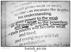 Isaiah 40:29 www.jw.org