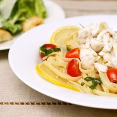 Crab Linguine with Lemon and Basil - my cure for the winter blahs.