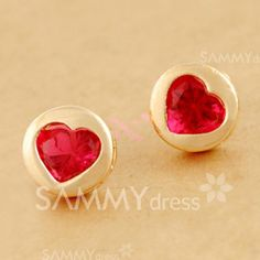 $2.21 Pair Of Sweet Chic Style Heart Or Bowknot Or Star Print Design Women's Stud Earrings